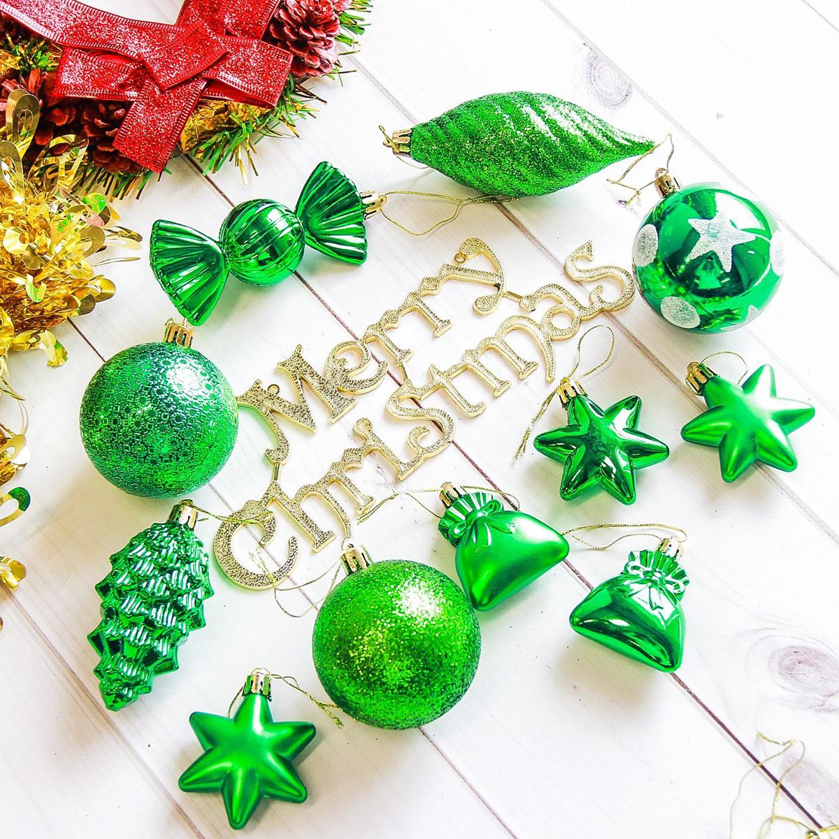 Набор новогодних подвесных украшений Sima-land Виваче, цвет: зеленый, 28 шт2178265Набор новогодних подвесных украшений Sima-land отлично подойдет для декорации вашего дома и новогодней ели. С помощью специальной петельки украшение можно повесить в любом понравившемся вам месте. Но, конечно, удачнее всего оно будет смотреться на праздничной елке. Елочная игрушка - символ Нового года. Она несет в себе волшебство и красоту праздника. Создайте в своем доме атмосферу веселья и радости, украшая новогоднюю елку нарядными игрушками, которые будут из года в год накапливать теплоту воспоминаний.
