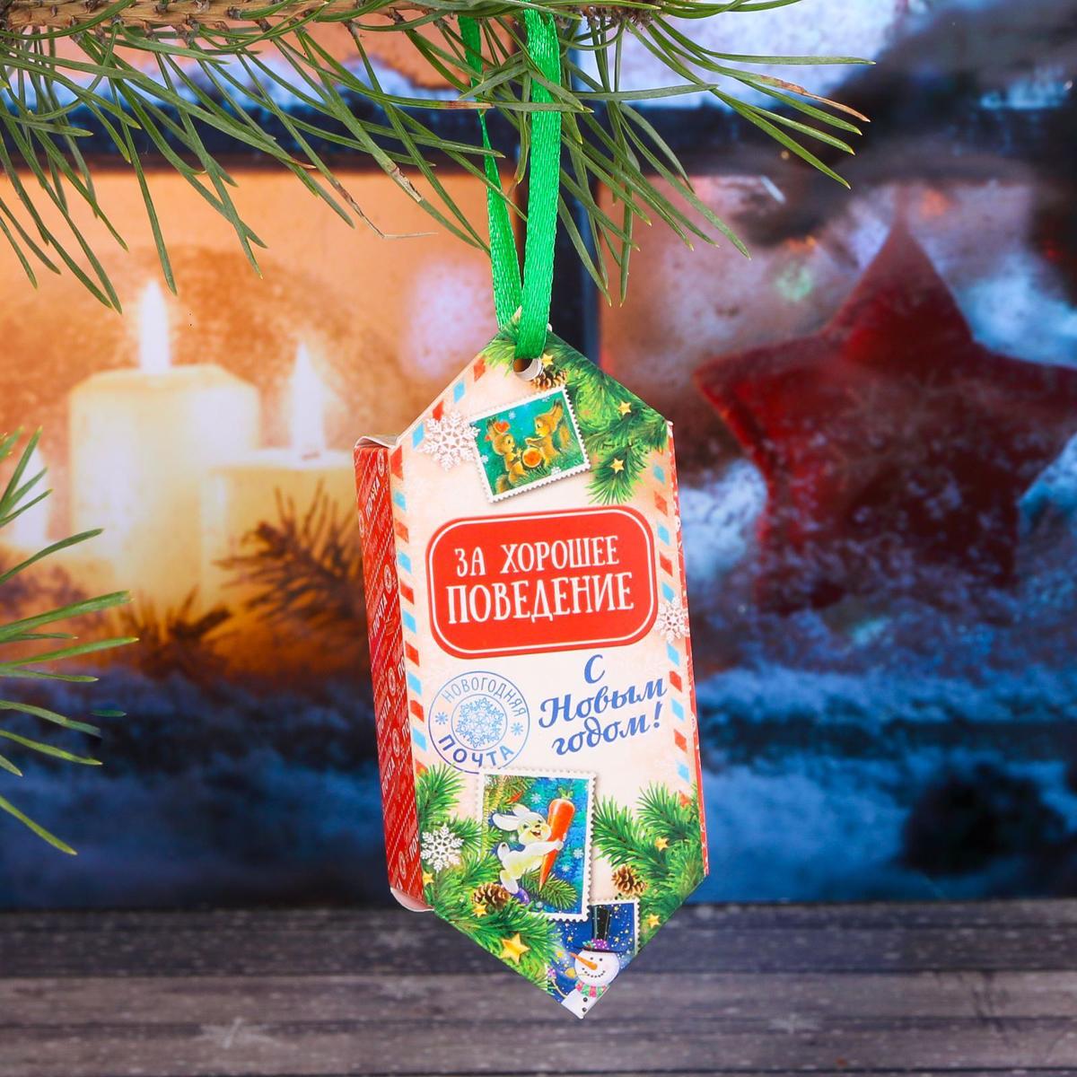 Украшение новогоднее подвесное Sima-land За хорошее поведение, 14 см х 13 см, 6 шт свеча ароматизированная sima land лимон на подставке высота 6 см