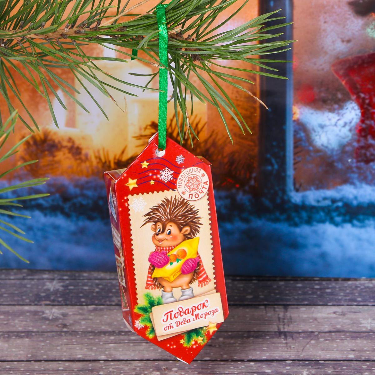 Украшение новогоднее подвесное Sima-land Подарок от Деда Мороза, 14 см х 13 см, 6 шт свеча ароматизированная sima land лимон на подставке высота 6 см