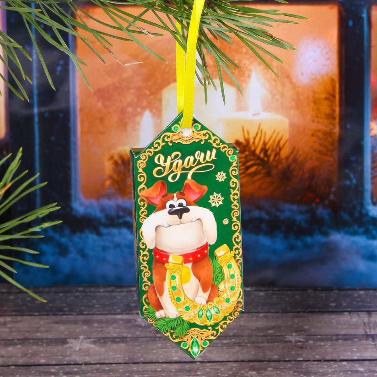 Украшение новогоднее подвесное Sima-land Удачи, 14 см х 13 см, 6 шт аксессуары для кофемашины бош