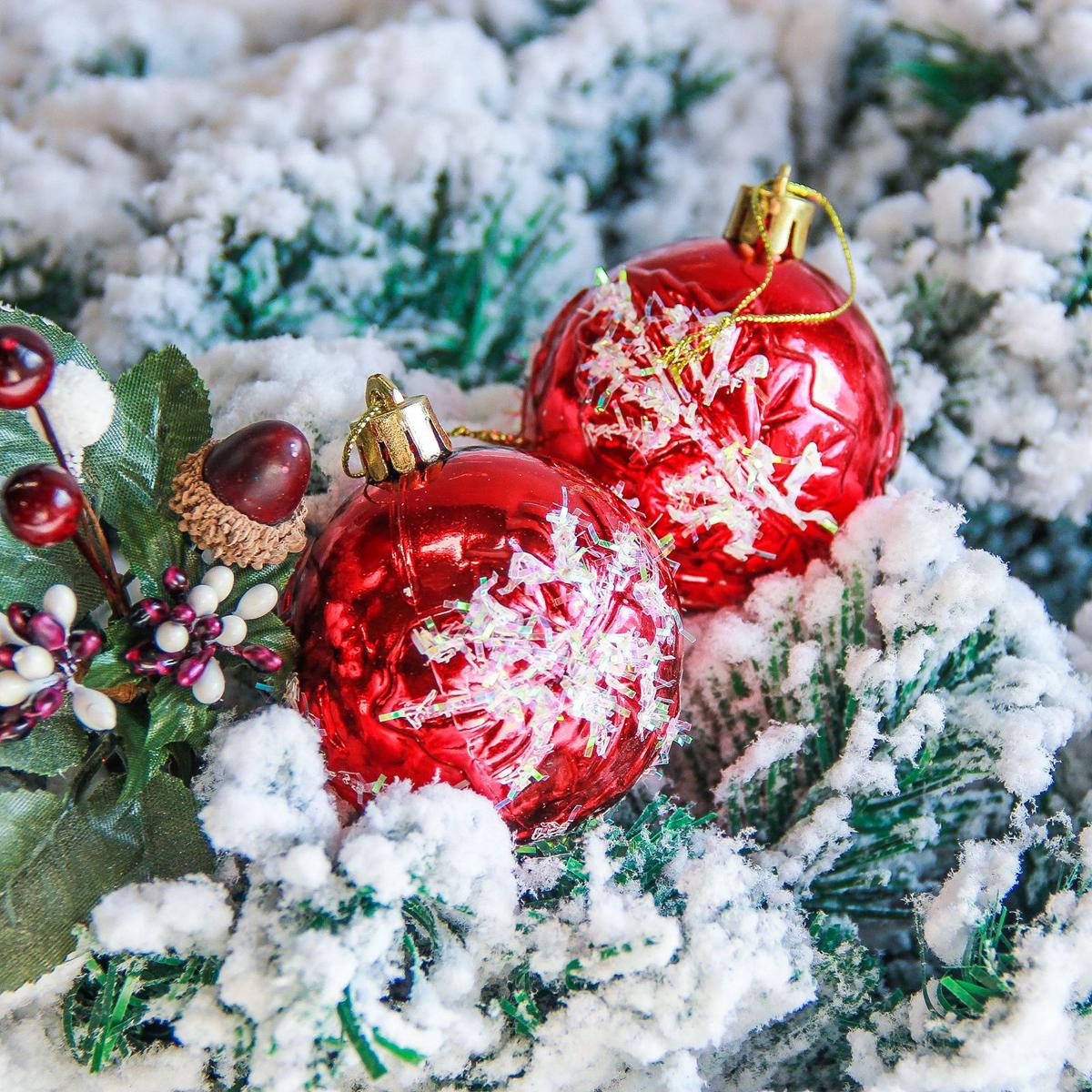 Набор новогодних подвесных украшений Sima-land Пушистые снежинки, диаметр 5,5 см, 6 шт2363907Набор новогодних подвесных украшений Sima-land отлично подойдет для декорации вашего дома и новогодней ели. С помощью специальной петельки украшение можно повесить в любом понравившемся вам месте. Но, конечно, удачнее всего оно будет смотреться на праздничной елке. Елочная игрушка - символ Нового года. Она несет в себе волшебство и красоту праздника. Создайте в своем доме атмосферу веселья и радости, украшая новогоднюю елку нарядными игрушками, которые будут из года в год накапливать теплоту воспоминаний.