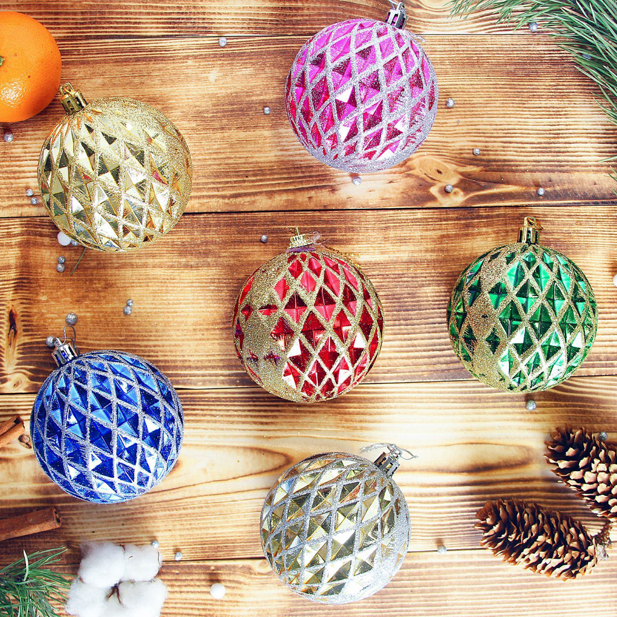 Набор новогодних подвесных украшений Sima-land Ромбы, диаметр 7,5 см, 6 шт2371180Невозможно представить нашу жизнь без праздников! Мы всегда ждём их и предвкушаем, обдумываем, как проведём памятный день, тщательно выбираем подарки и аксессуары, ведь именно они создают и поддерживают торжественный настрой.