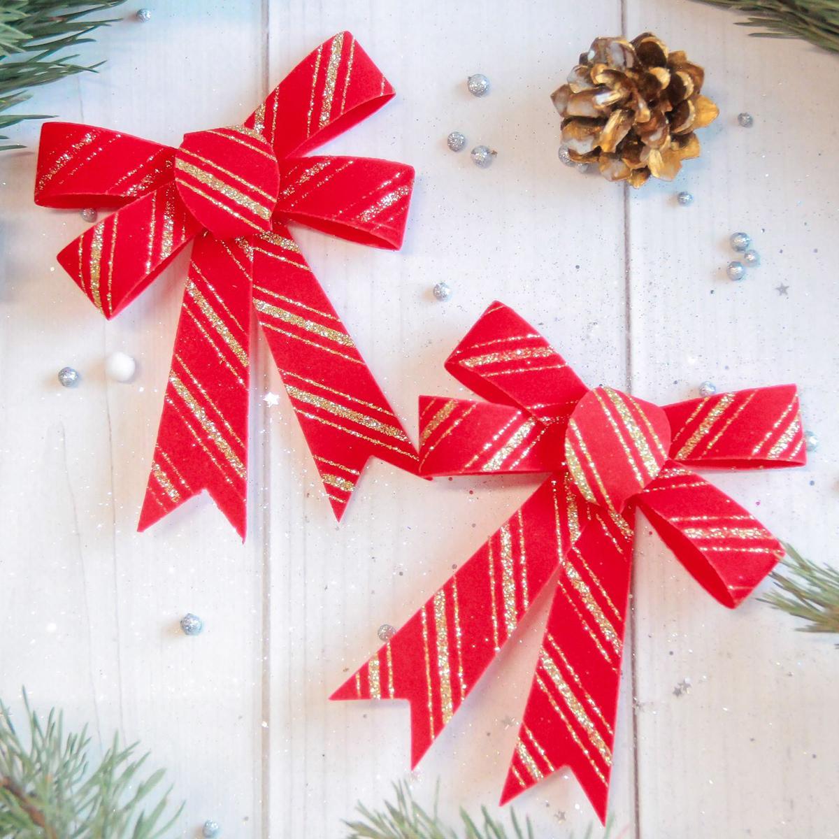 Набор новогодних подвесных украшений Sima-land Бант с золотыми полосками, 9 х 10 см, 3 шт2371266Набор новогодних подвесных украшений Sima-land отлично подойдет для декорации вашего дома и новогодней ели. Новогодние украшения можно повесить в любом понравившемся вам месте. Но, конечно, удачнее всего они будет смотреться на праздничной елке.Елочная игрушка - символ Нового года. Она несет в себе волшебство и красоту праздника. Такое украшение создаст в вашем доме атмосферу праздника, веселья и радости.