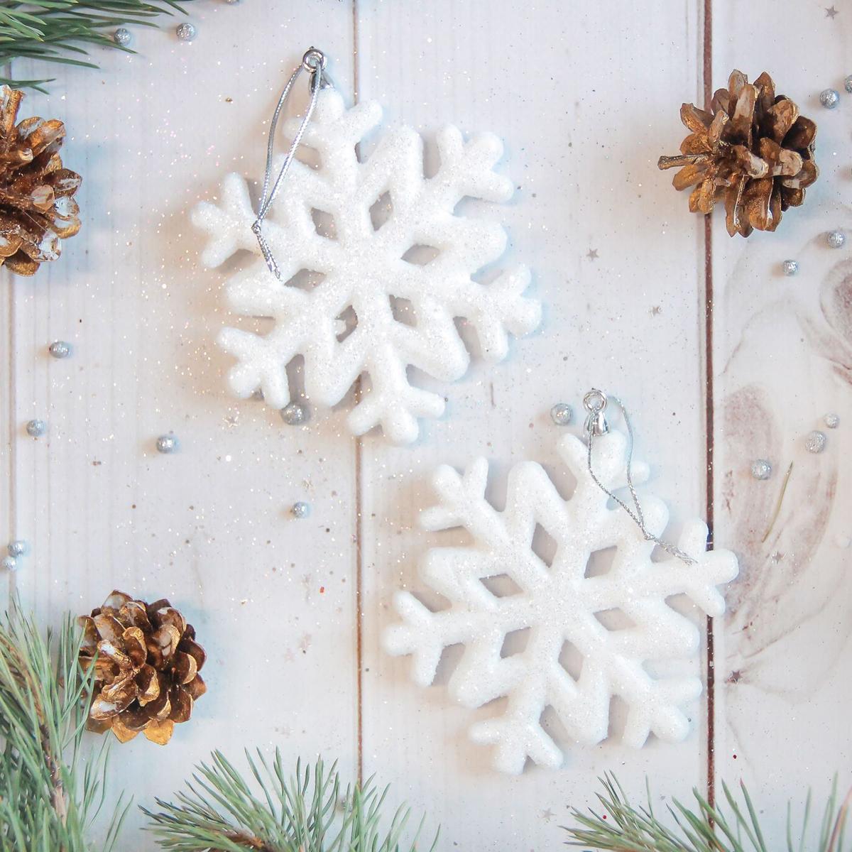 Украшение новогоднее елочное Sima-land Белая снежинка, 9,5 см, 2 шт2371290Невозможно представить нашу жизнь без праздников! Мы всегда ждём их и предвкушаем, обдумываем, как проведём памятный день, тщательно выбираем подарки и аксессуары, ведь именно они создают и поддерживают торжественный настрой.