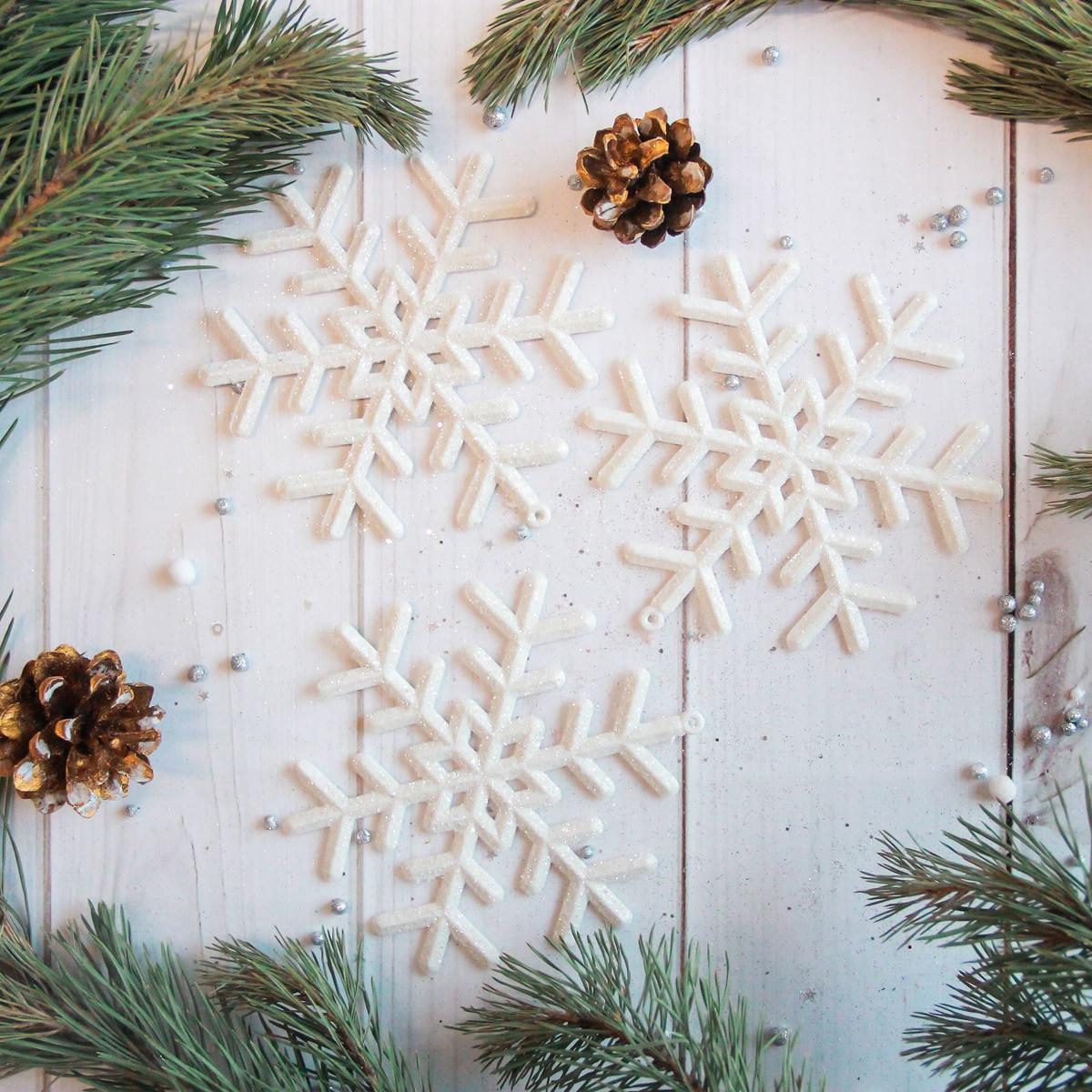 Украшение новогоднее елочное Sima-land Белая снежинка, 12 см, 3 шт2371298Невозможно представить нашу жизнь без праздников! Мы всегда ждём их и предвкушаем, обдумываем, как проведём памятный день, тщательно выбираем подарки и аксессуары, ведь именно они создают и поддерживают торжественный настрой.