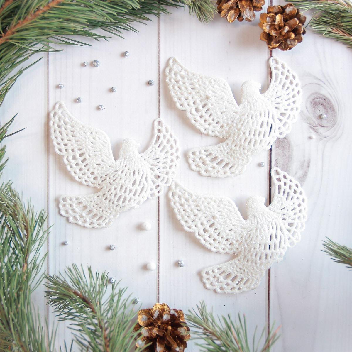 Украшение новогоднее елочное Sima-land Белая голубка, 10 х 11 см, 3 шт2371308Невозможно представить нашу жизнь без праздников! Мы всегда ждём их и предвкушаем, обдумываем, как проведём памятный день, тщательно выбираем подарки и аксессуары, ведь именно они создают и поддерживают торжественный настрой.