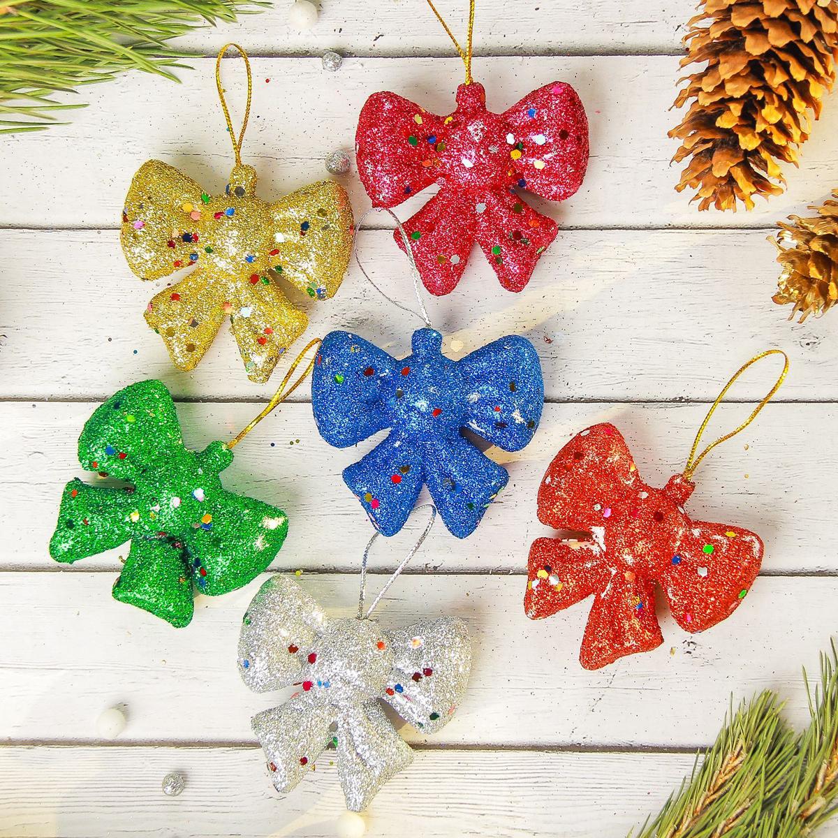 Украшение новогоднее елочное Sima-land Бантик разноцветный, 6 см, 6 шт2372142Невозможно представить нашу жизнь без праздников! Мы всегда ждём их и предвкушаем, обдумываем, как проведём памятный день, тщательно выбираем подарки и аксессуары, ведь именно они создают и поддерживают торжественный настрой.