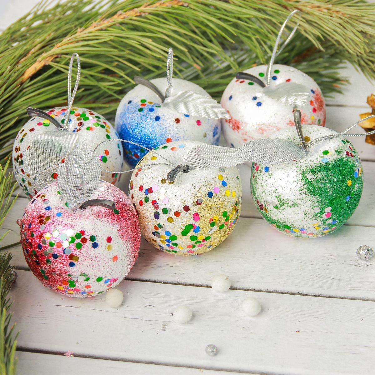 Украшение новогоднее елочное Sima-land Яблочки, 4,5 см, 6 шт2372143Невозможно представить нашу жизнь без праздников! Мы всегда ждём их и предвкушаем, обдумываем, как проведём памятный день, тщательно выбираем подарки и аксессуары, ведь именно они создают и поддерживают торжественный настрой.