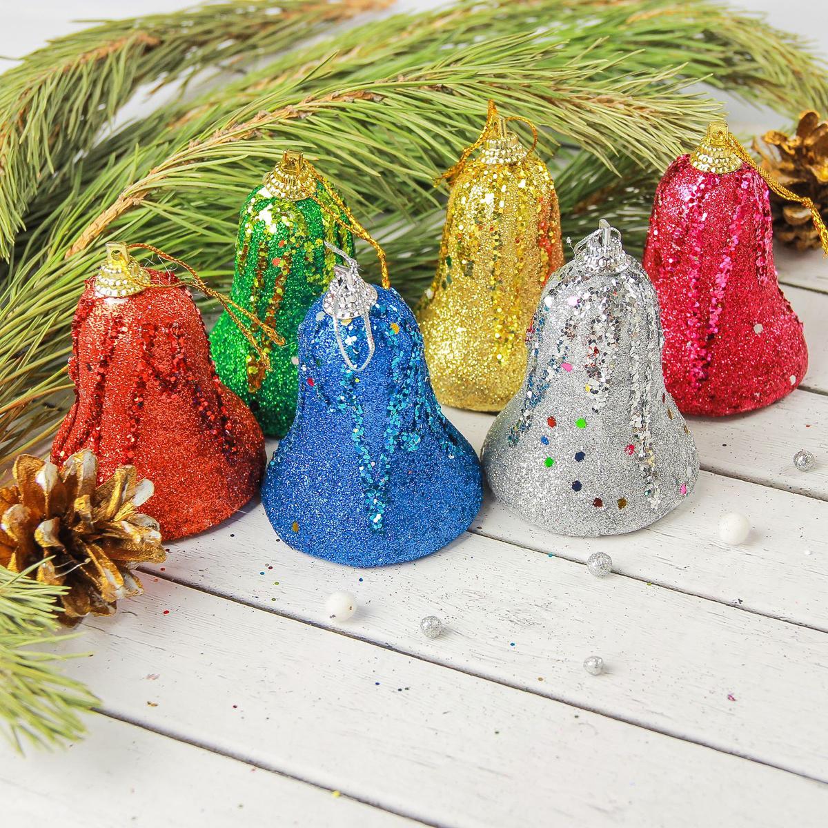 Набор новогодних подвесных украшений Sima-land Блеск, 5,5 х 6 см, 6 шт2372149Набор новогодних подвесных украшений Sima-land отлично подойдет для декорации вашего дома и новогодней ели. Новогодние украшения можно повесить в любом понравившемся вам месте. Но, конечно, удачнее всего они будет смотреться на праздничной елке.Елочная игрушка - символ Нового года. Она несет в себе волшебство и красоту праздника. Такое украшение создаст в вашем доме атмосферу праздника, веселья и радости.