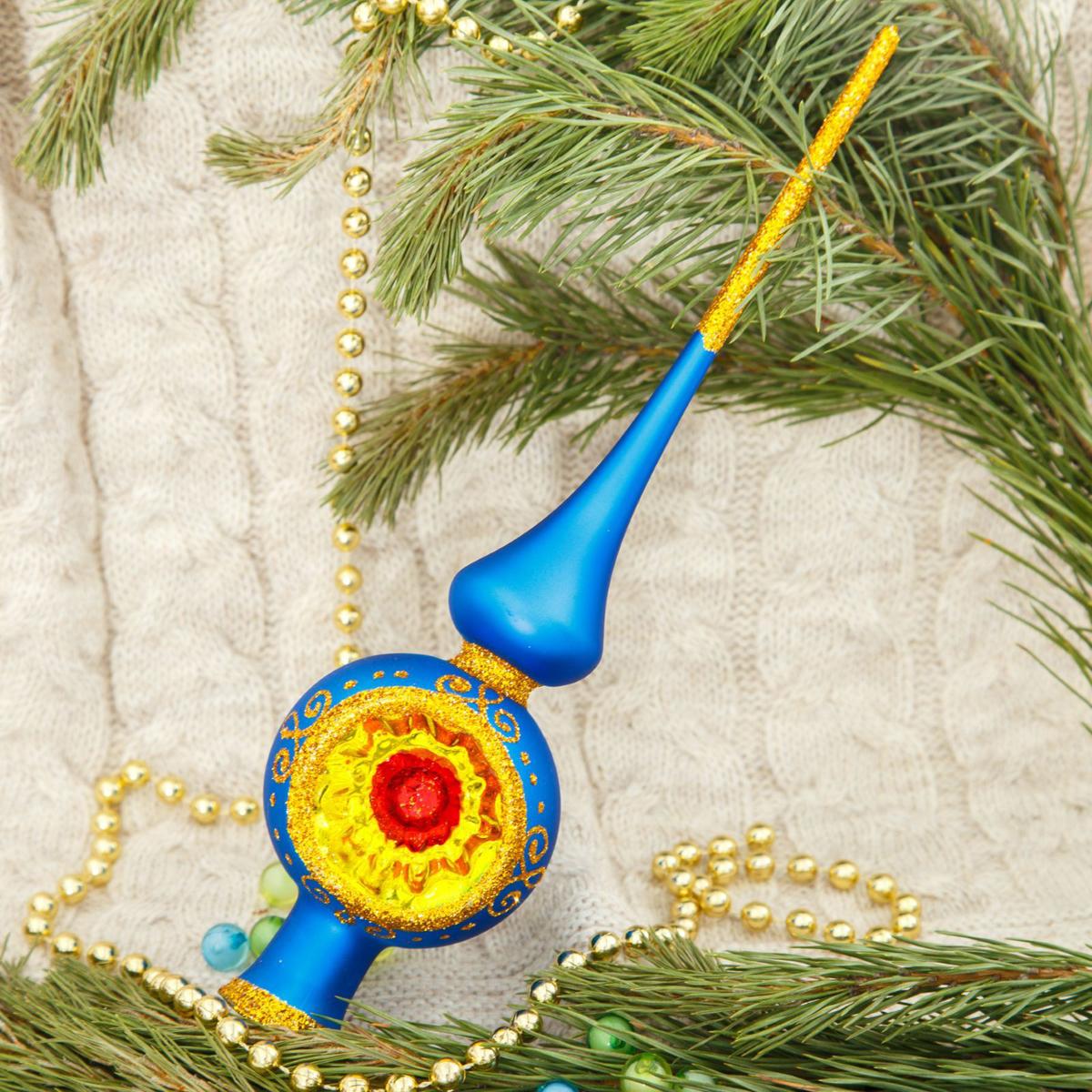 Макушка на елку Ёлочка Искристая, 27,5 см2564806Невозможно представить нашу жизнь без праздников! Мы всегда ждём их и предвкушаем, обдумываем, как проведём памятный день, тщательно выбираем подарки и аксессуары, ведь именно они создают и поддерживают торжественный настрой.