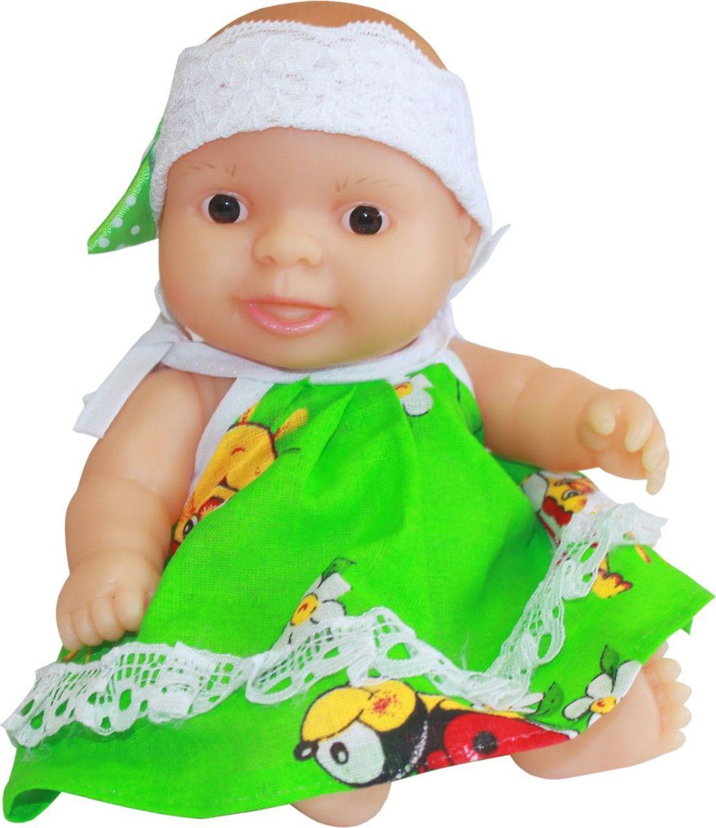 Пластмастер Пупс Агата инсити платье в пол зеленое