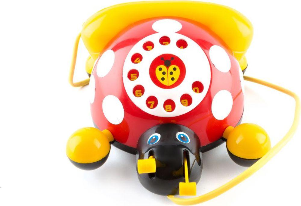 Пластмастер Игрушка-каталка Божья коровка бк 09 магнит божья коровка 90мм