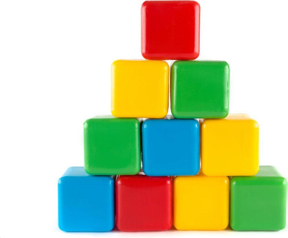 Фото Пластмастер Кубики цветные 7х7 см