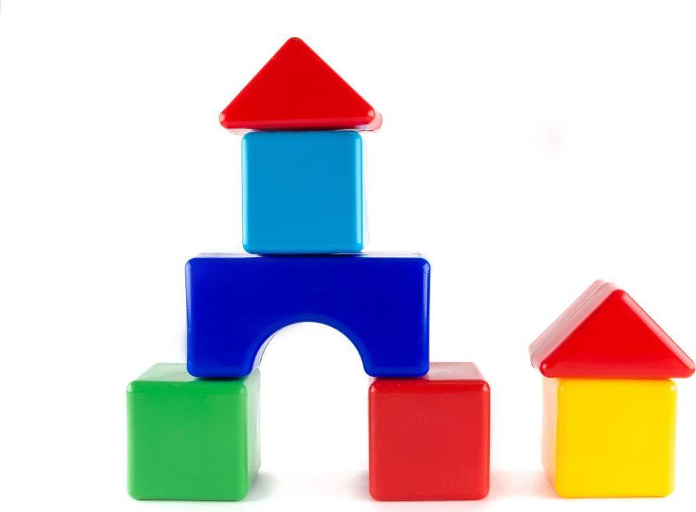 Пластмастер Набор кубиков Стройка 10х10 см набор садовода купить
