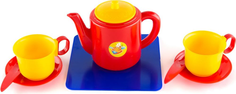 Пластмастер Игровой набор для кукол  чашек  чайником