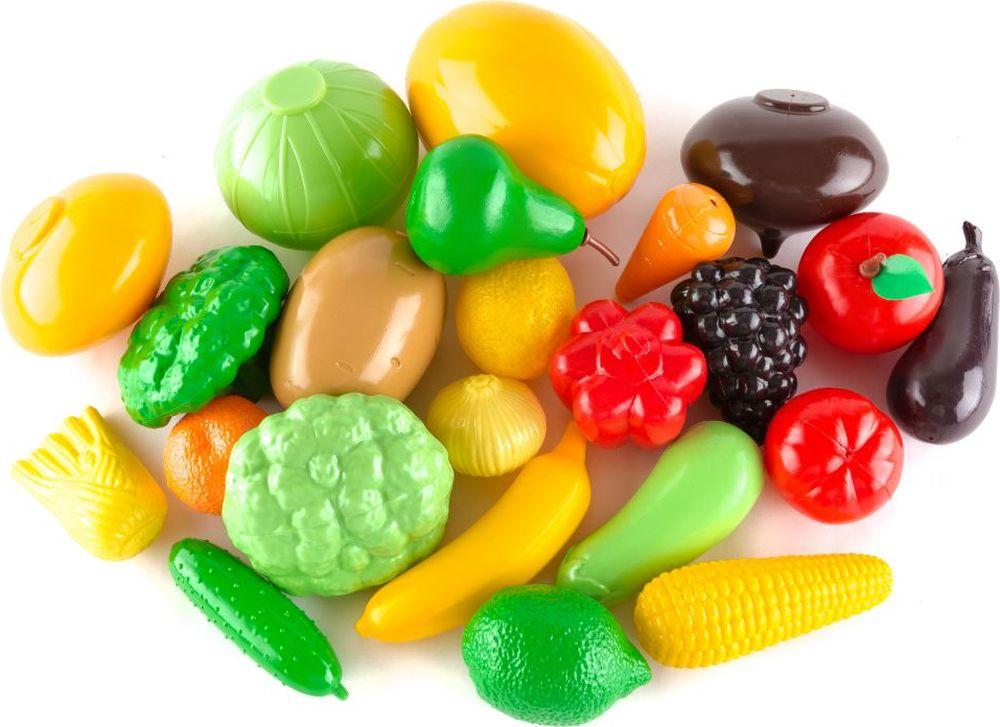 Пластмастер Игровой набор Овощи фрукты большой