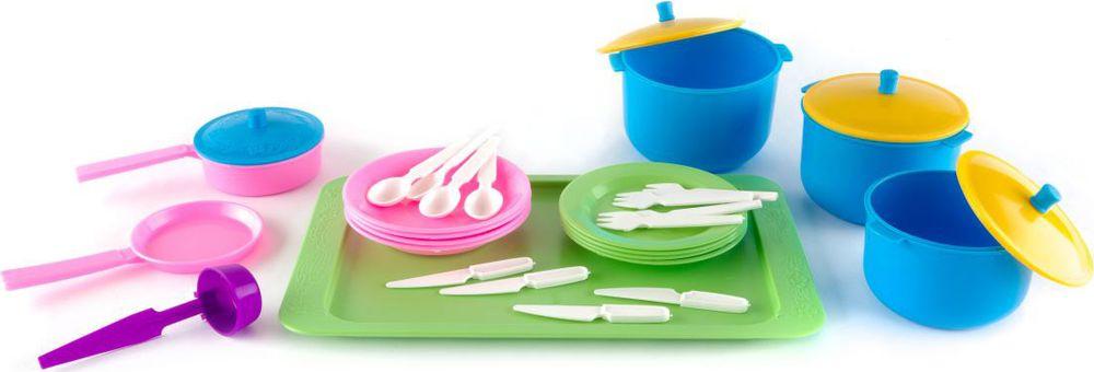 Пластмастер Игровой набор посуды Вкусный ужин пластмастер игровой набор фикси плотник