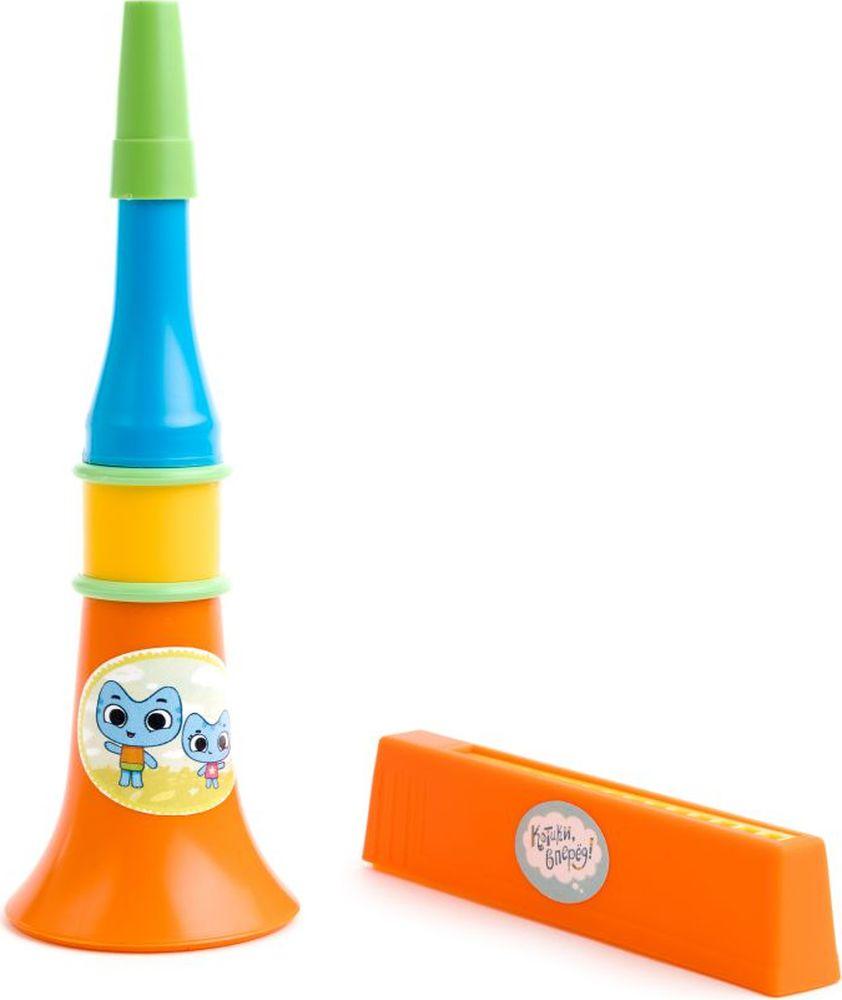 Котики Вперед Набор музыкальных инструментов Дудочка и гармошка большая музыкальные игрушки стеллар дудочка
