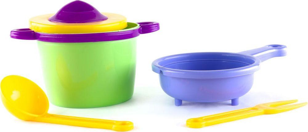 Пластмастер Игровой набор посуды Поваренок макароны с поваром на упаковке