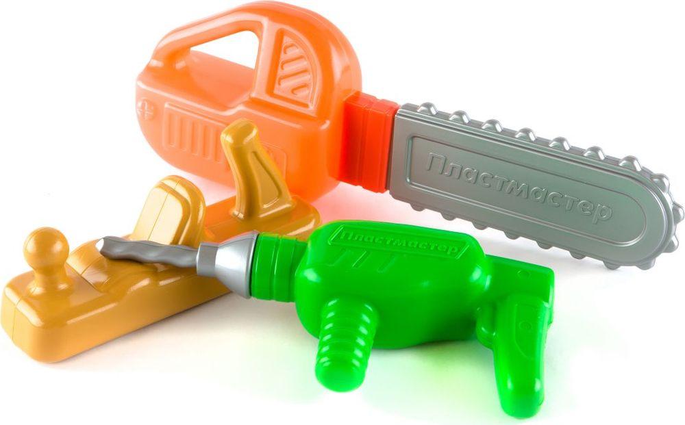 Пластмастер Игровой набор Столяр дрель электрическая