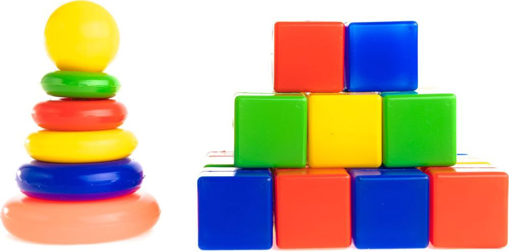 Пластмастер Набор кубиков Чудо - собирайка 4х4 см