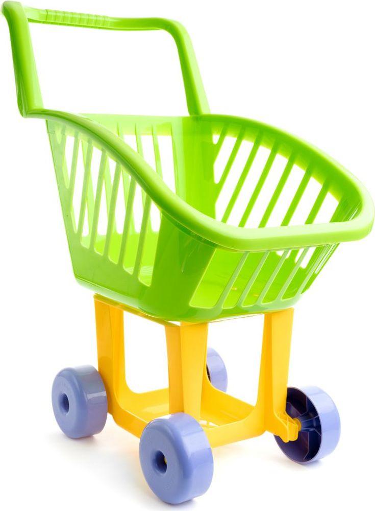 Пластмастер Игровой набор Тележка для супермаркета большую плетную корзину в минске