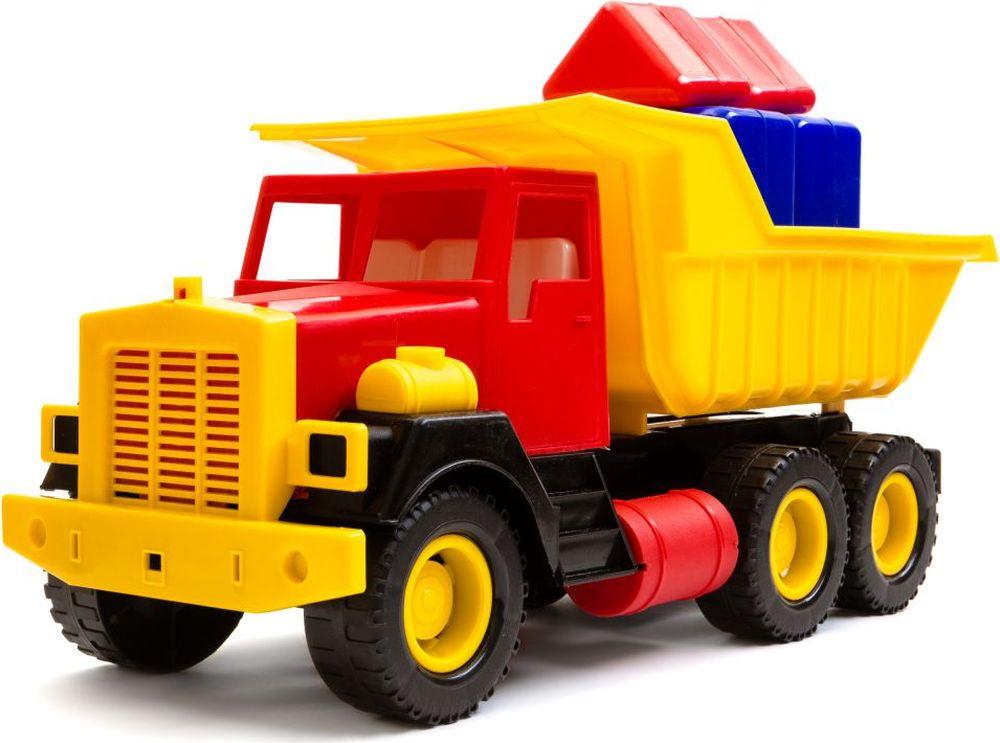 Пластмастер Самосвал большой c кубиками - Транспорт, машинки