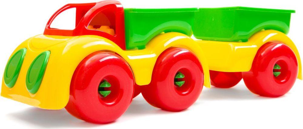 Пластмастер Грузовик МалышОК с прицепом аппликация на магнитике грузовик