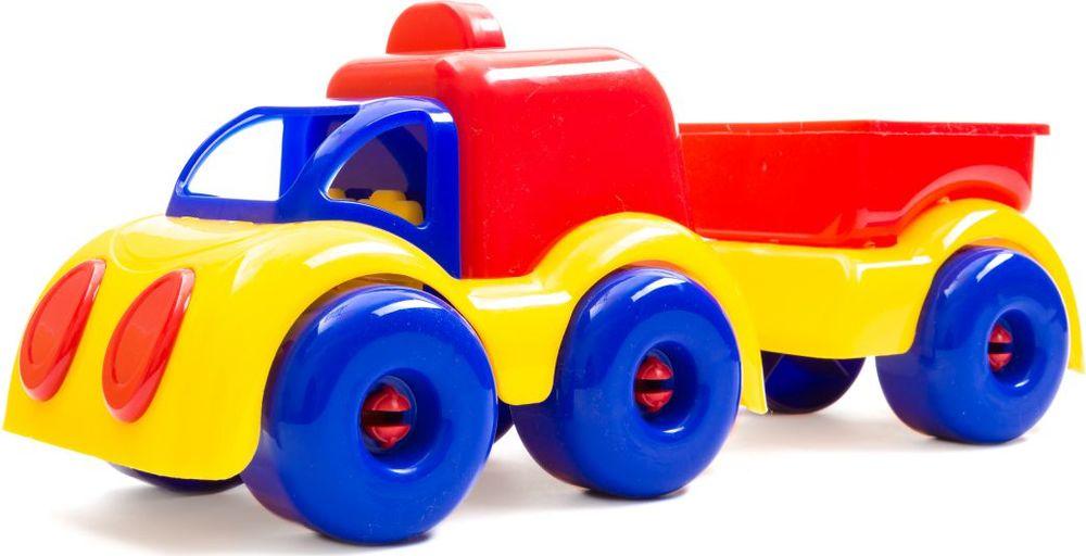 Пластмастер Автофургон МалышОК с прицепом машинки globo набор автопоезд с прицепом и животным