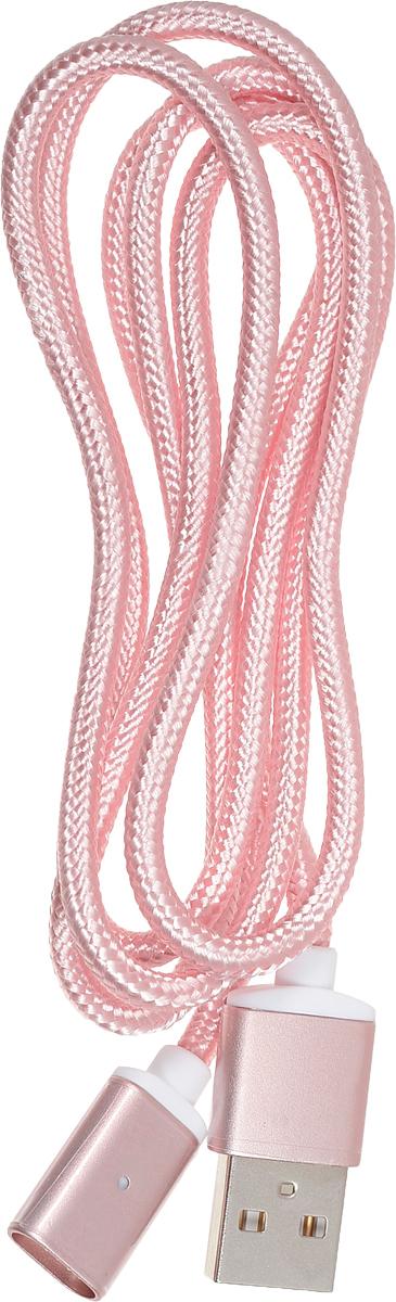 Red Line Magnetic, Pink магнитный дата-кабель USB/USB Type-CУТ000012855Дата-кабель Red Line Magnetic в нейлоновой оплетке предназначен для передачи данных между персональными компьютерами и смартфонами, планшетами и прочими устройствами с портом USB Type-C. Кроме того, его можно подключить к адаптеру питания USB, чтобы зарядить устройство от розетки. Магнитная конструкция коннектора обеспечивает легкое и безопасное подключение.