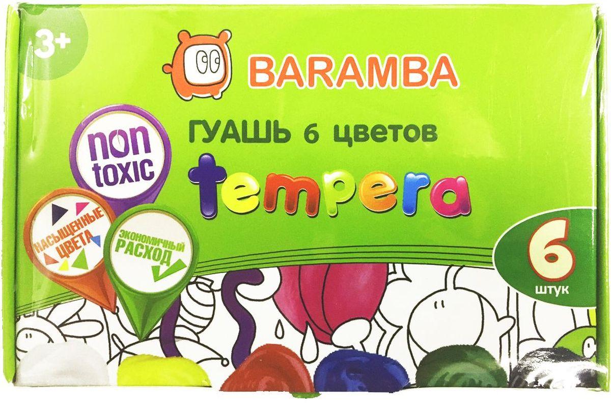 Baramba Гуашь Темпера 6 цветовB20506Краски идеально подходят для оформительских и художественных работ. Густая консистенция, яркие цвета, экономичный расход
