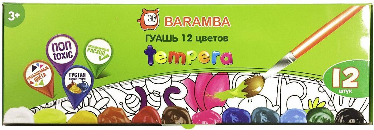 Baramba Гуашь Темпера 12 цветовB20512Краски идеально подходят для оформительских и художественных работ. Густая консистенция, яркие цвета, экономичный расход
