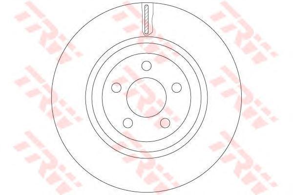 Диск тормозной передний TRW/Lucas DF6244SDF6244S