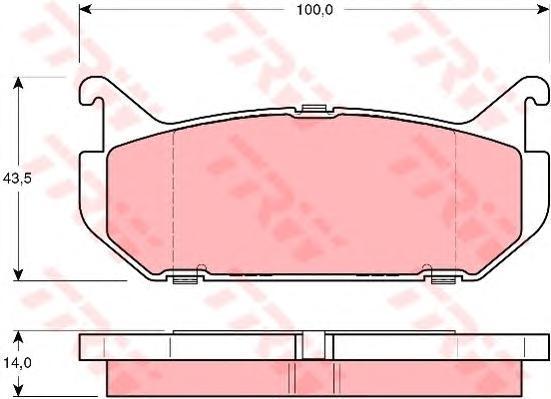 Колодки тормозные дисковые TRW/Lucas GDB1140GDB1140