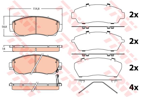 Колодки тормозные передние TRW/Lucas GDB3581GDB3581