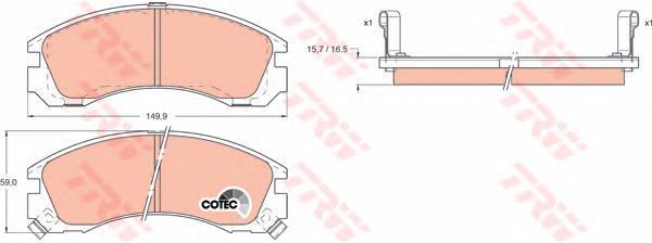 Колодки тормозные дисковые TRW/Lucas GDB1126GDB1126