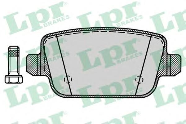 Колодки тормозные LPR / AP 05P127205P1272