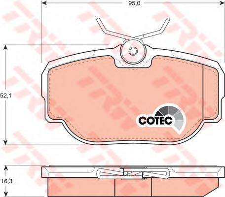 Колодки тормозные дисковые TRW/Lucas GDB1155GDB1155