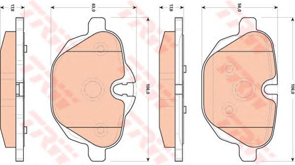 Колодки тормозные дисковые TRW/Lucas GDB1840GDB1840