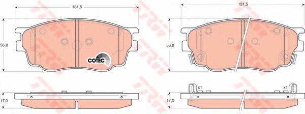 Колодки тормозные дисковые TRW/Lucas GDB3309GDB3309