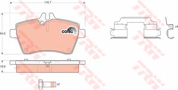 Колодки тормозные дисковые TRW/Lucas GDB1630GDB1630