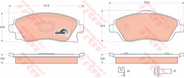 Колодки тормозные дисковые TRW/Lucas GDB1570GDB1570