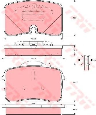 Колодки тормозные дисковые TRW/Lucas GDB961GDB961