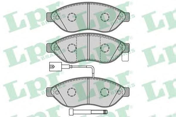 Колодки тормозные переднийLPR / AP 05P128705P1287