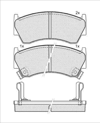 Колодки тормозные передние Kashiyama D1227MD1227M