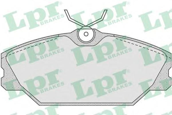 Колодки тормозные передние LPR / AP 05P81605P816