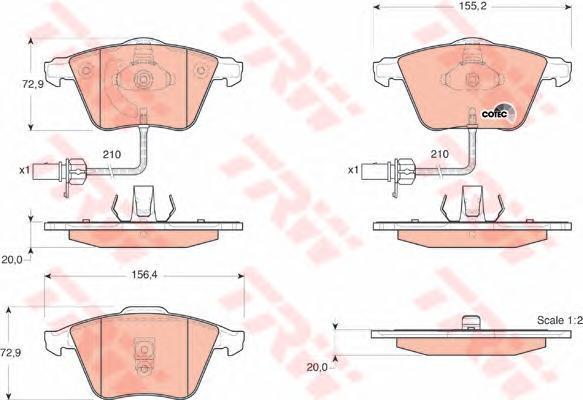 Колодки тормозные дисковые TRW/Lucas GDB1528GDB1528