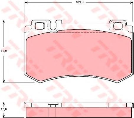 Колодки тормозные дисковые TRW/Lucas GDB1544GDB1544