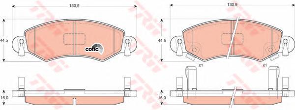 Колодки тормозные дисковые TRW/Lucas GDB1420GDB1420