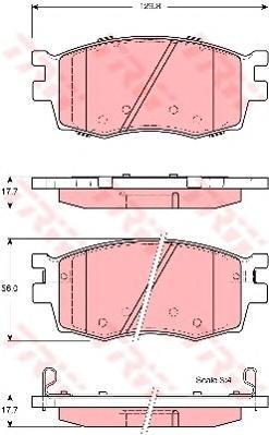 Колодки тормозные дисковые TRW/Lucas GDB3420GDB3420